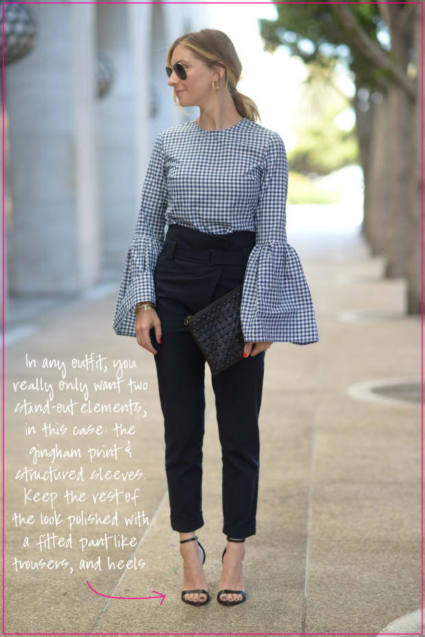 How to Style an Exaggerated Structured Top 4 Ways_Patterned and Polished