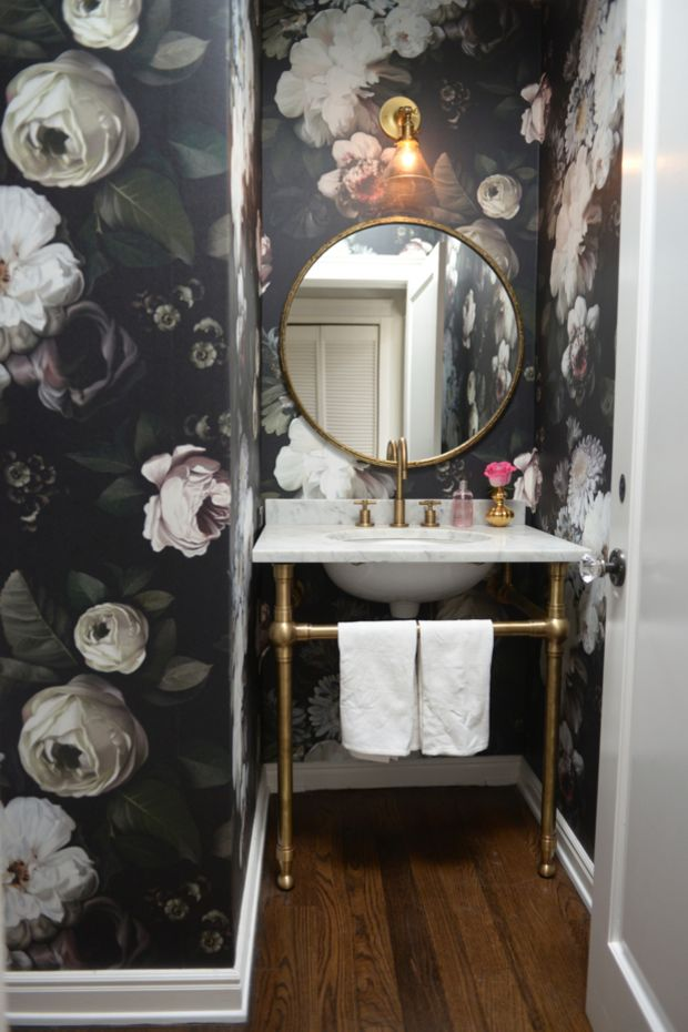 Powder Room Makeovers Before And After - Powder Room