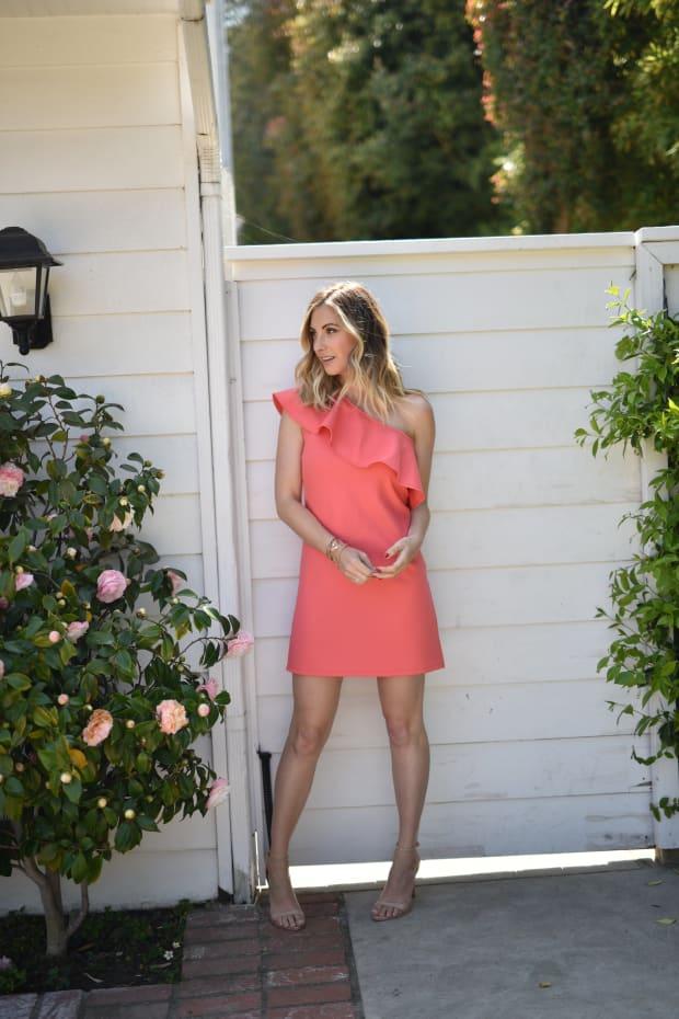 Pink Off Shoulder Dress 5