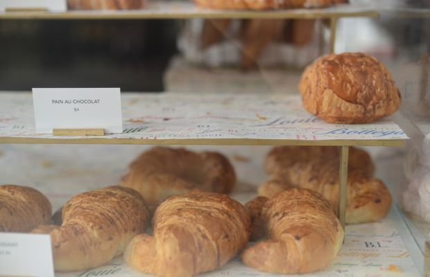 Fresh baked Bottega Louie croissants to pair with our coffees.