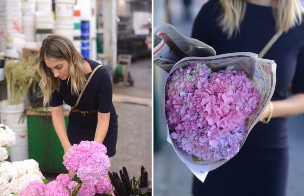 At the flower market, where options are endless.