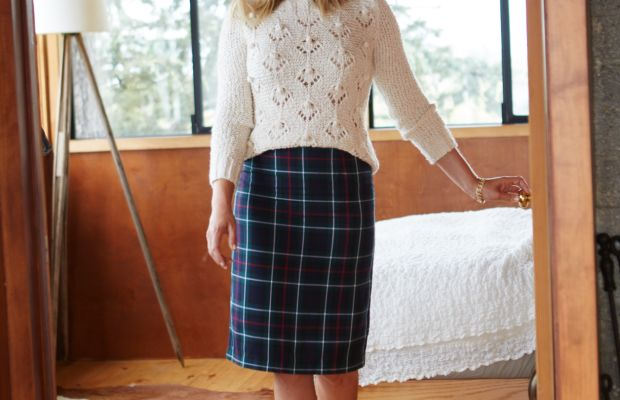 Cupcakes and Cashmere Sweater and Skirt, Stuart Weitzman Heels