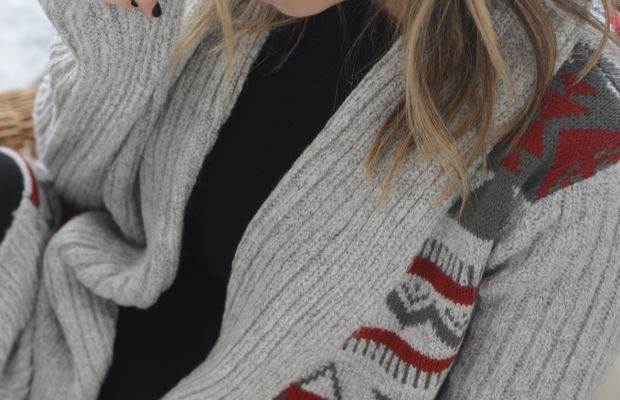 {The coziest knit from my new holiday collection}