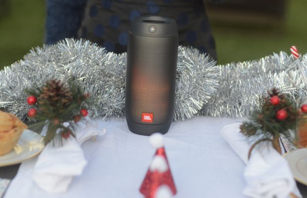 JBL Pulse 2 Speaker that sounds great and also lights up to create a pretty ambiance.