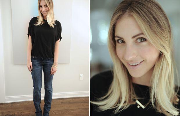 Tuesday: Cupcakes and Cashmere Shirt, Current/Elliott Jeans, Manolo Blahnik Pumps