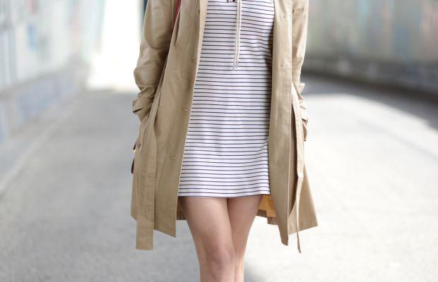 Celine Sunglasses, Cupcakes and Cashmere Trench, Amanda Uprichard Dress, A Détacher Shoes, Celine Bag