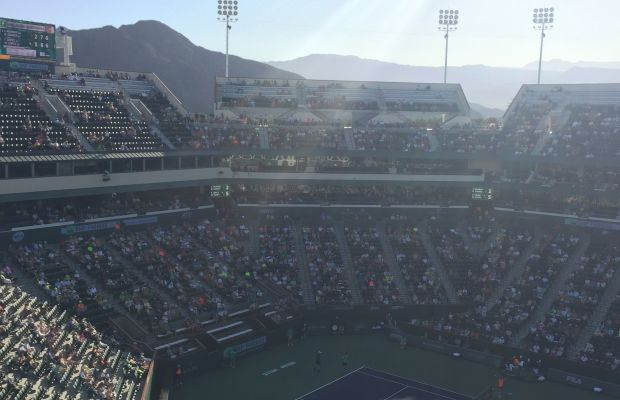 {View from the top of the stadium}