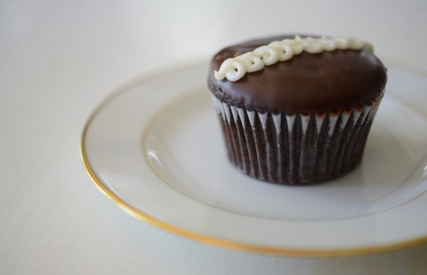 {A gourmet spin on a Hostess cupcake from Sycamore Kitchen}