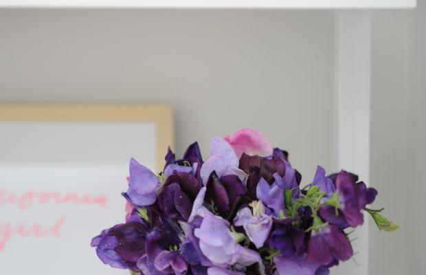 {Farmers' market florals to brighten Sloan's room}