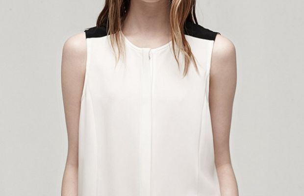 {The exact top I wore is no longer available, but here's a similar version I like just as much.}