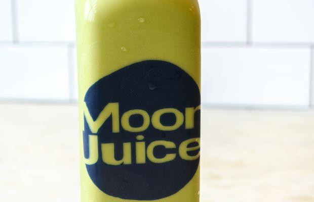 {Monday's post-workout drink: matcha Moon Juice}
