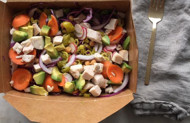 {Friday's lunch: my favorite salad from Huckleberry}