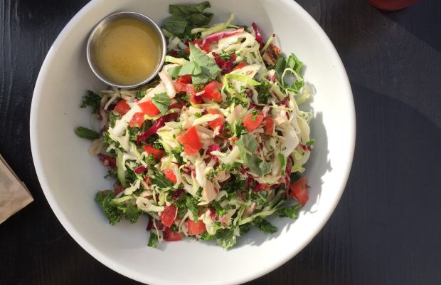 {Thursday's lunch: an Italian chop salad from Sycamore Kitchen}