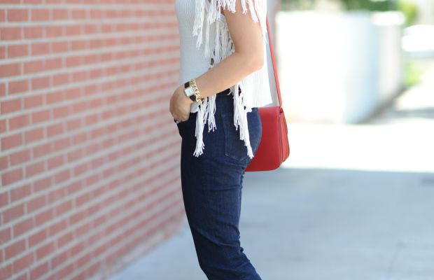 Ray-Ban Sunglasses, Cupcakes and Cashmere Sweater, 3x1 Jeans, Manolo Blahnik Pumps, Celine Bag