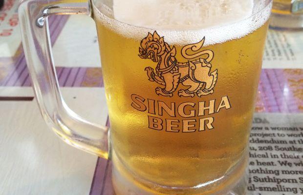 {Thai beer from my new neighborhood spot}