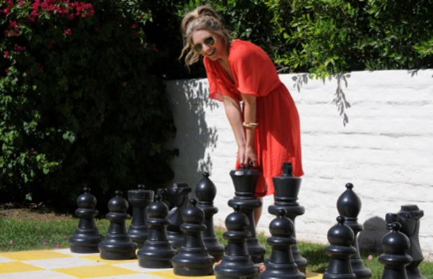 {How fun is this huge chess board? I was obviously pretty enamored and spent entirely too much time here.}
