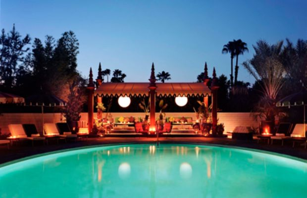 {Since we couldn't pick a favorite, we spent equal time at the chlorine-free saline pool and the jewel-box pool.}
