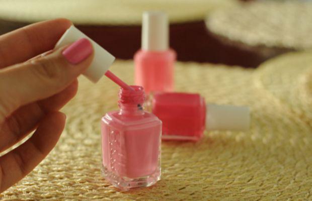 {Pink mani/pedis}