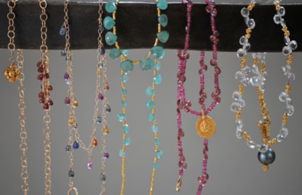 {A few of my mom's necklaces that she's made.}