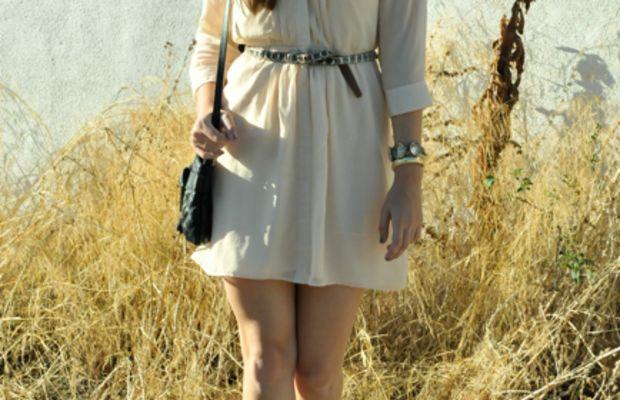 Madewell Dress, Vintage Belt, Vintage and J.Crew Bracelets, Marc Jacobs Bag, Forever 21 Mary Janes