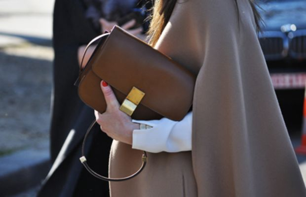 {Camel colors + Structured clutch}