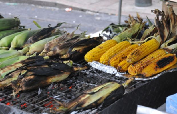 {Grilled corn}