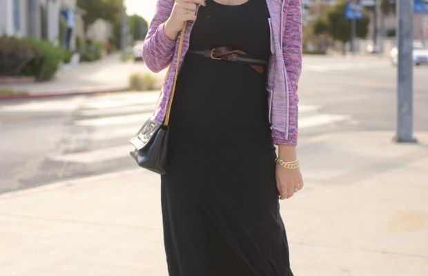 {J.Crew Hat and Jacket, James Perse Dress, Madewell Belt, Louboutin Booties, Vintage Chanel Bag}