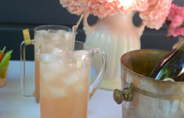 {Grapefruit shrub cocktails and mocktails}