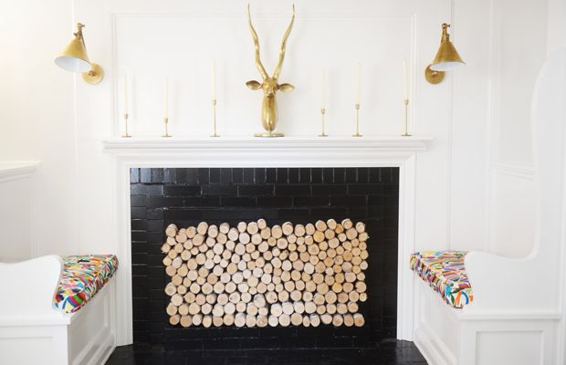 {G's fireplace log DIY, inspired by this post}