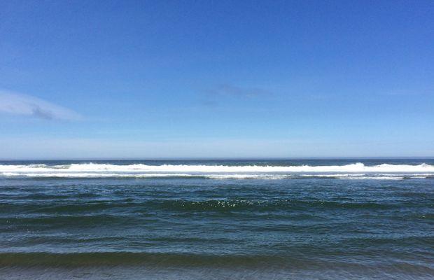 {Sloan's first beach day trip}