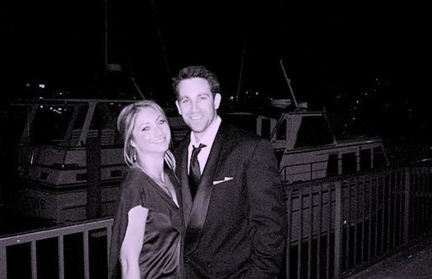 {At a wedding a few weeks after we started dating}