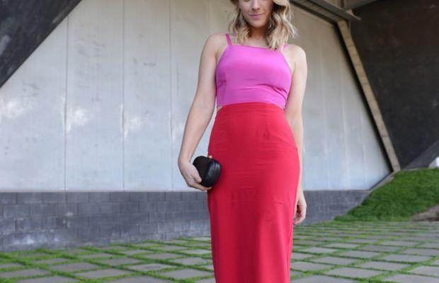 Mara Hoffman Dress, Alexandra DeClaris Clutch, Louboutin Heels, Essie 'Boxer Shorts' Nail Polish