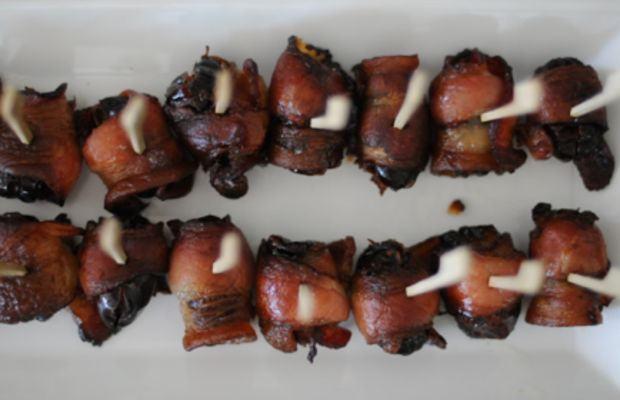 {Pure decadence: bacon-wrapped figs}