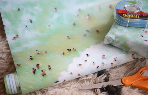 {The coolest wrapping paper from Gray Malin}