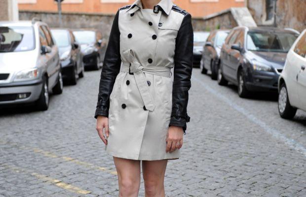 Celine Sunglasses, Burberry Trench, Dries Van Noten Heels, Estée Lauder 'Stay Scarlet' Lipstick