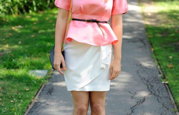 Vintage Emmanuelle Khanh Sunglasses, H&M Top, J.Crew Belt, Zara Skirt, Vintage Chanel Bag, Alaia Booties,Essie 'Fear or Desire' Nail Polish