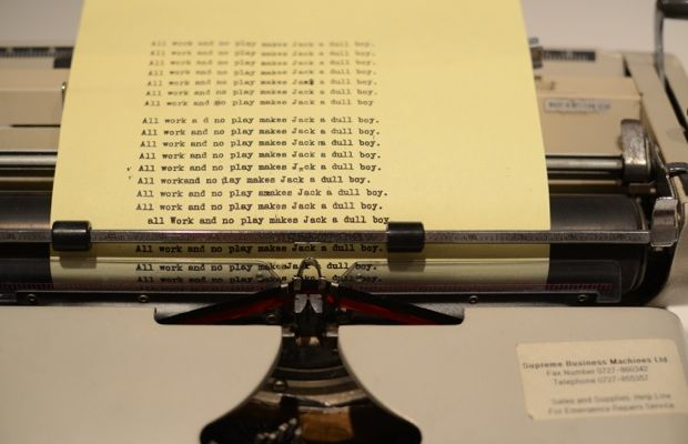 {The infamous typewriter from The Shining}
