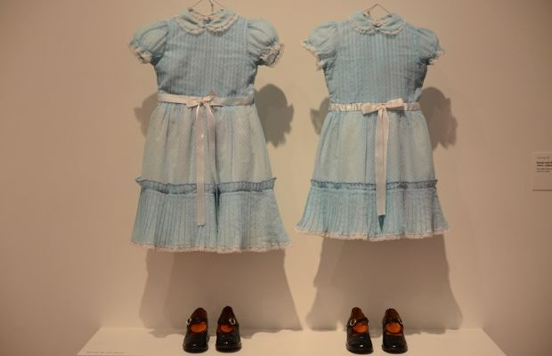 {The original costumes for the Grady sisters - so creepy in person}