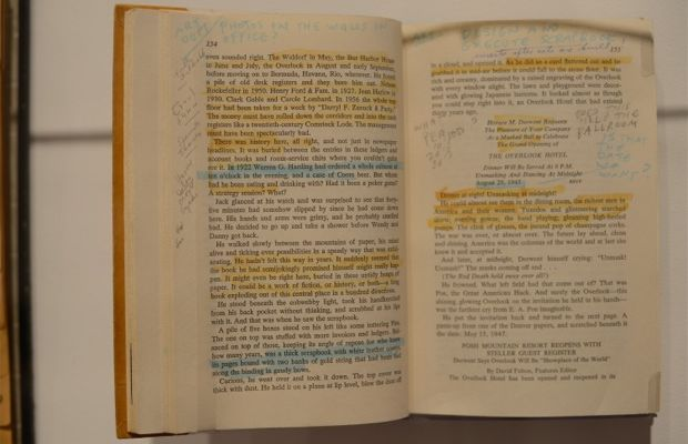 {I loved seeing all of his notes and excerpts he chose to incorporate into his films}