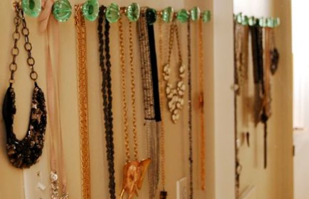 {An organized way to display all of my necklaces}