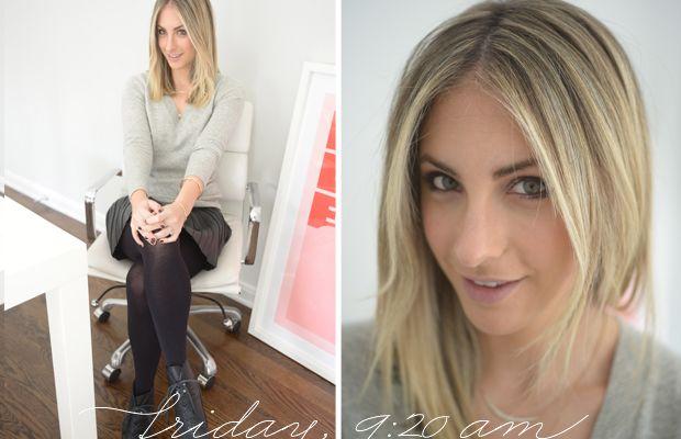 {J.Crew Sweater, Zara Skirt, H&M Tights, Proenza Schouler Booties}
