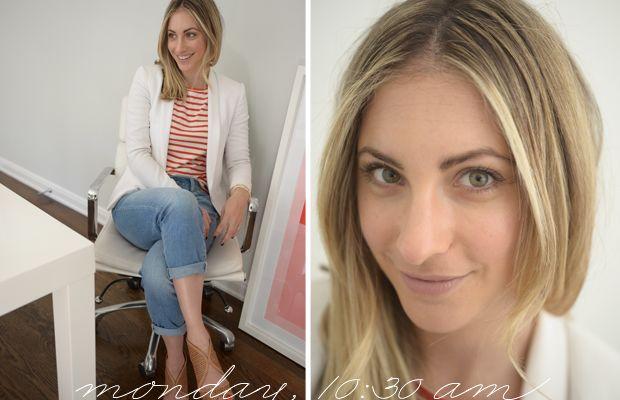 {Rag & Bone blazer (similar here), Stylemint Top, Old Navy Jeans, Prada shoes}