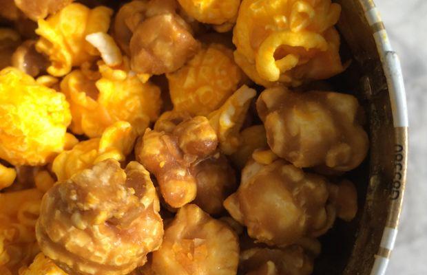 {The best caramel/cheddar corn from Garrett's}