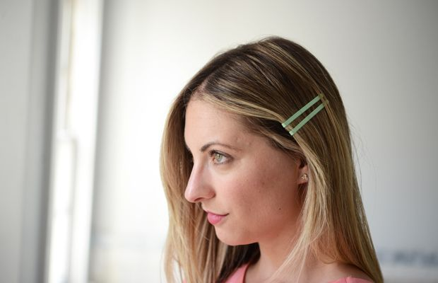 {All about layering bright bobby pins for spring}