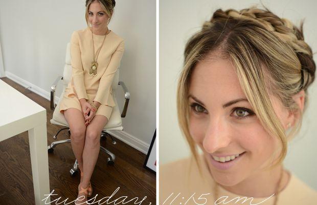 {Zara Dress, Anthropologie Necklace, J.Crew Sandals}