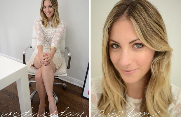 {Isabel Marant x H&M Top, Club Monaco Skirt, Manolo Blahnik Pumps}