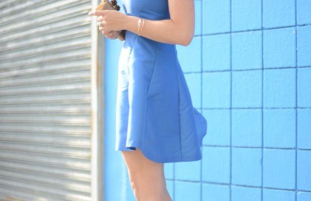 Opening Ceremony Dress, Prada Heels, Tiffany & Co. Clutch