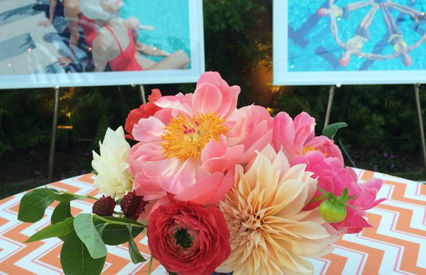 {Flowers and art at Gray Malin's new series party}