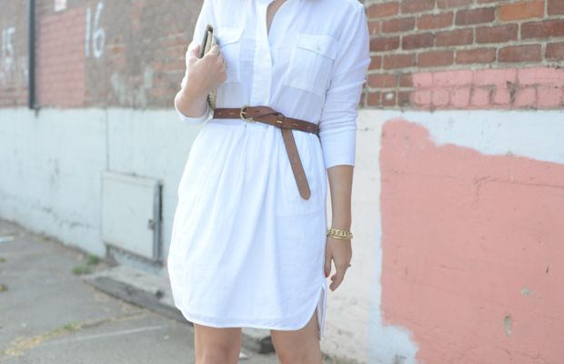 {Ray-Ban Aviators, James Perse Dress, Madewell Belt, Vintage Clutch, Jacquie Aiche Ear Jacket c/o,Cupcakes and Cashmere x Club Monaco Heels}