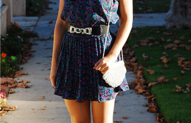 Vintage Dress, Belt and Bag, Costume National Booties